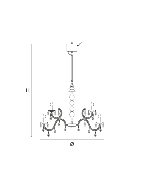 Masiero - Drylight S18 Chandelier