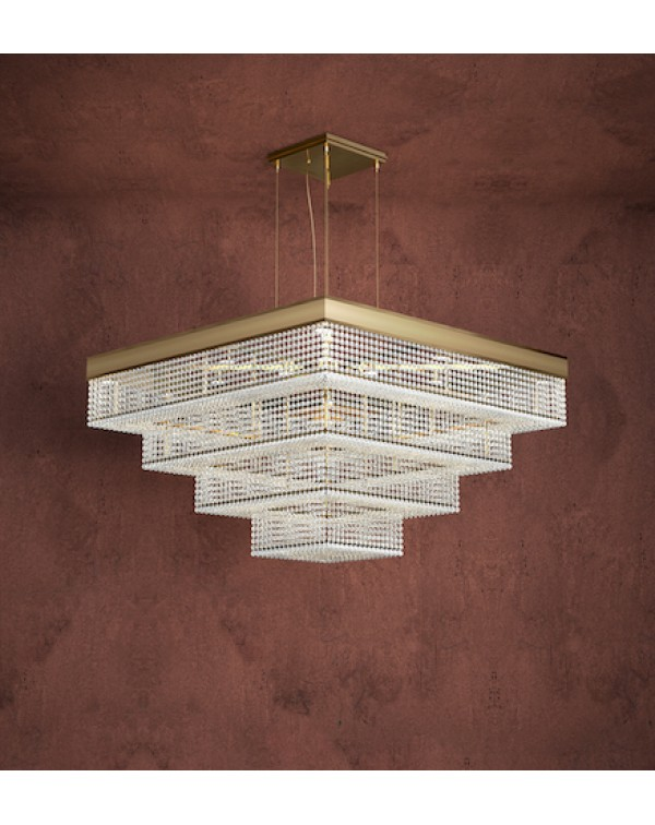 California Suspension Square Chandelier