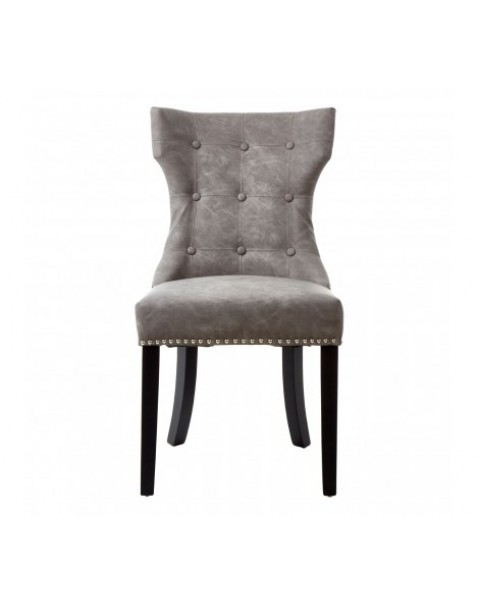premier house wears- Daxton Grey Faux Leather Dining Chair - Asco Lights