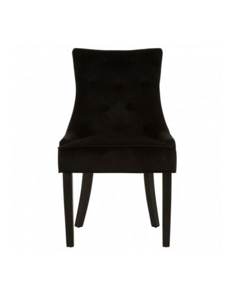 Premier Housewares-Daxton Black Dining Chair- Asco Lights