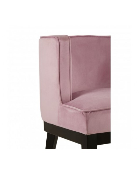 Premier Housewares- Daxton Pink Rounded Chair