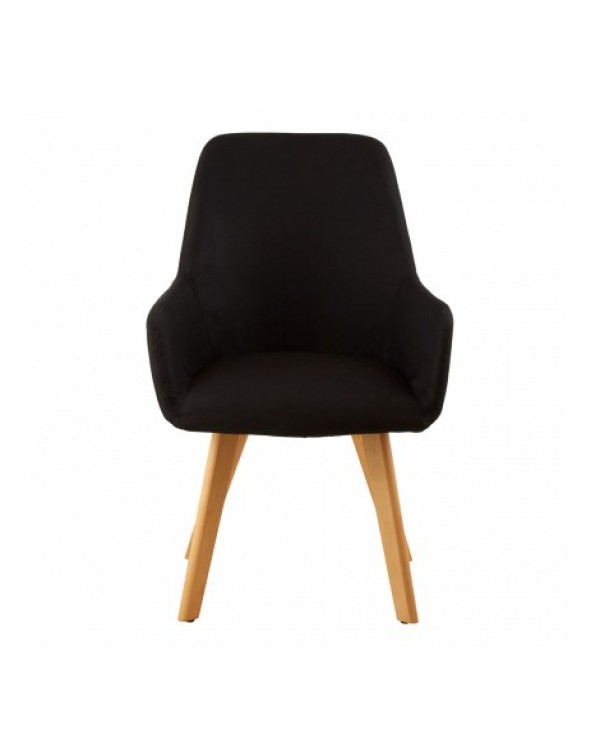 Premier housewares -Stockholm Black Leisure Chair