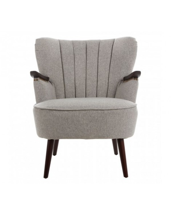 Premier Housewares Hampstead Taupe Fabric Armchair