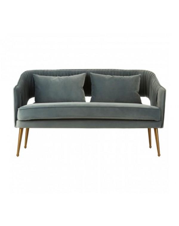 premier housewares - Hendricks Blue Velvet Sofa