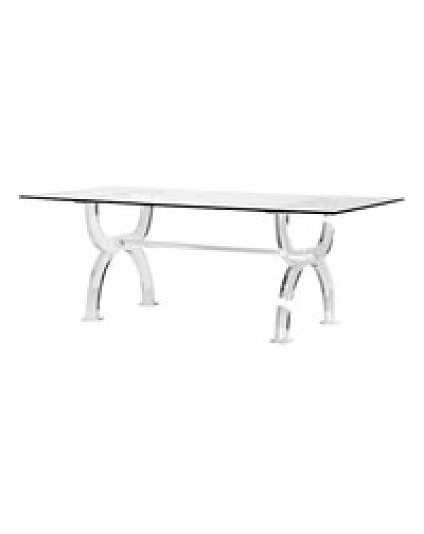 Glass Top Acrylic Dining Table