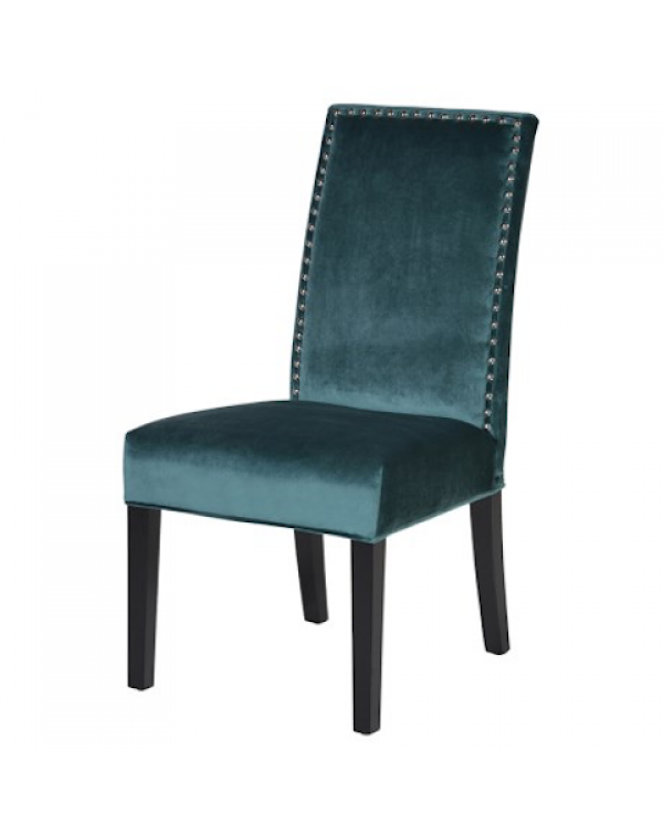 Coach House  Studded Teal Dining Chair