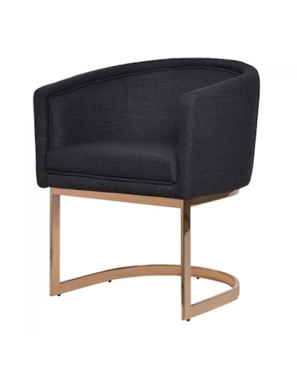 Black Dining Chair Rose Gold Frame
