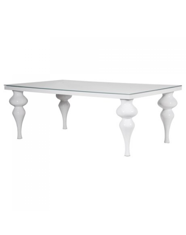 Large White High Gloss Dining Table