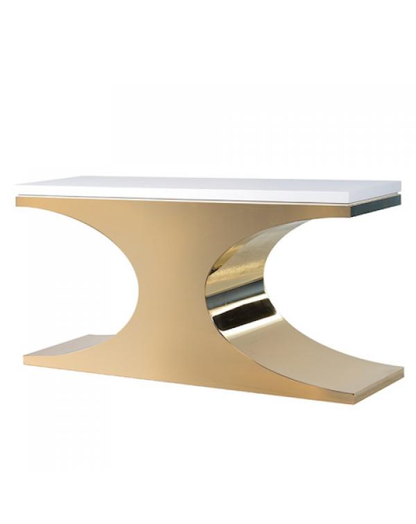 Coach House Kensington White/Gold Console Table