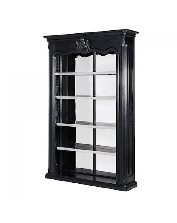 Black Kensington Mirrored Shelf Unit