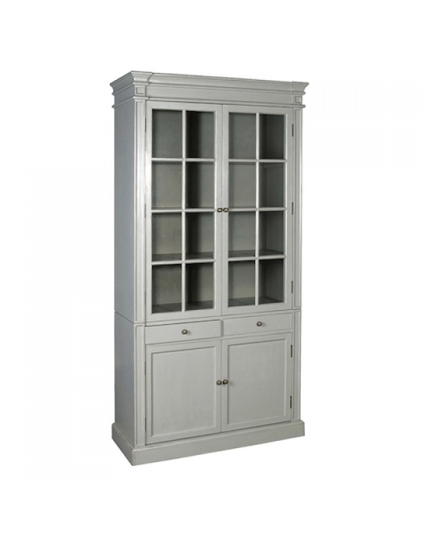 Grey Fayence Glazed Bookcase