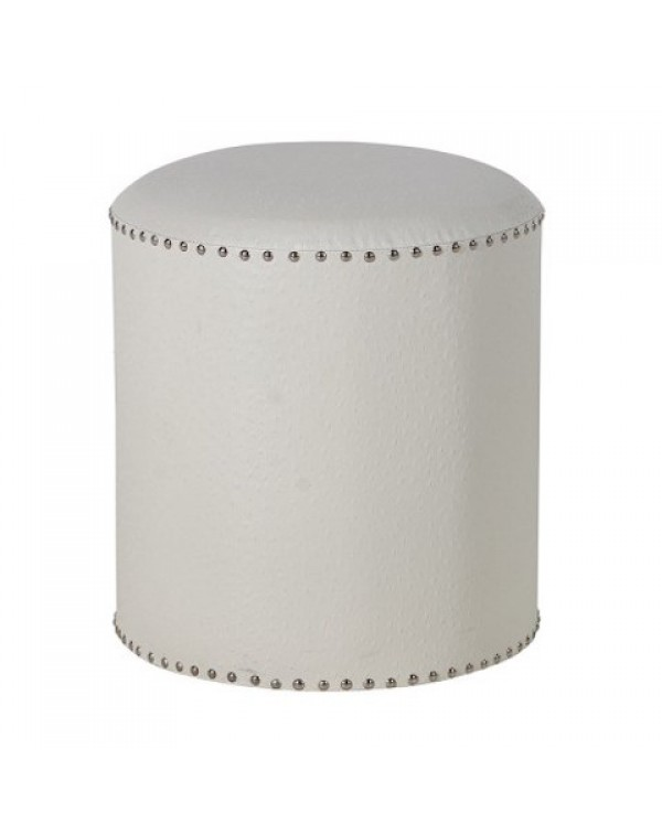 Round White Foot Stool