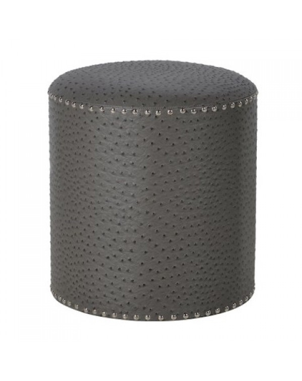 Round Grey Foot Stool