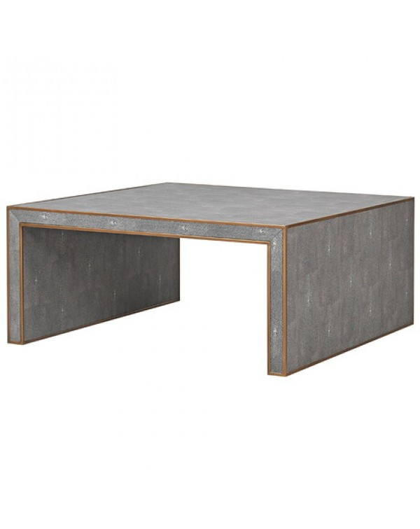 Oak And  Shagreen Coffee Table