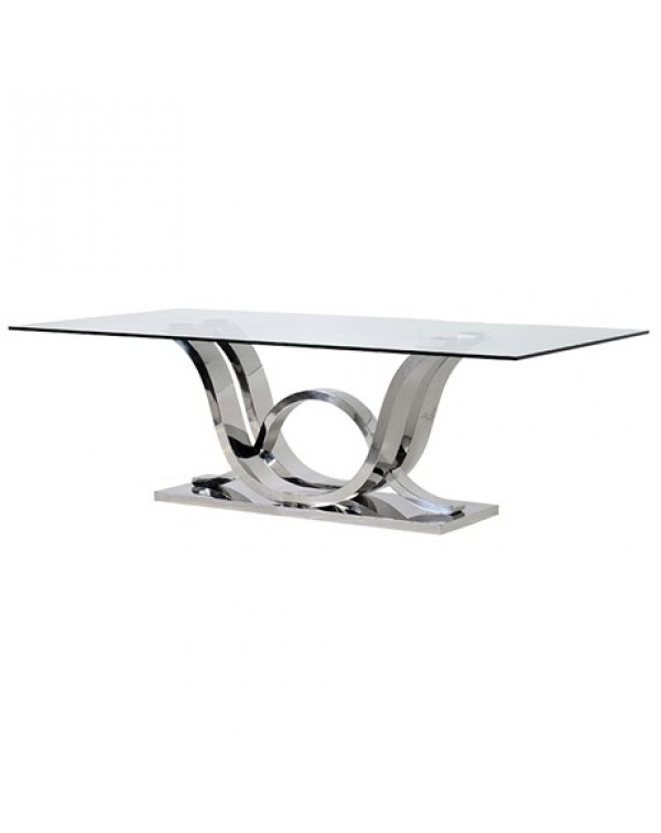 Wave Glass Dining Table
