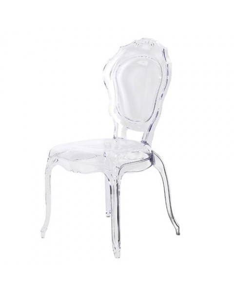 Clear Louis Style Dining Chair - Asco Lights