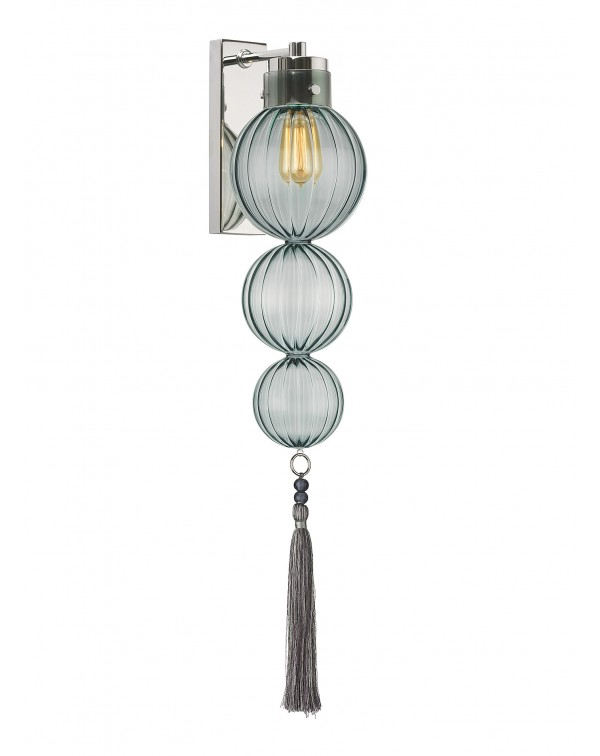Heathfield - Medina Opal Jade Nickel Wall Light / ...