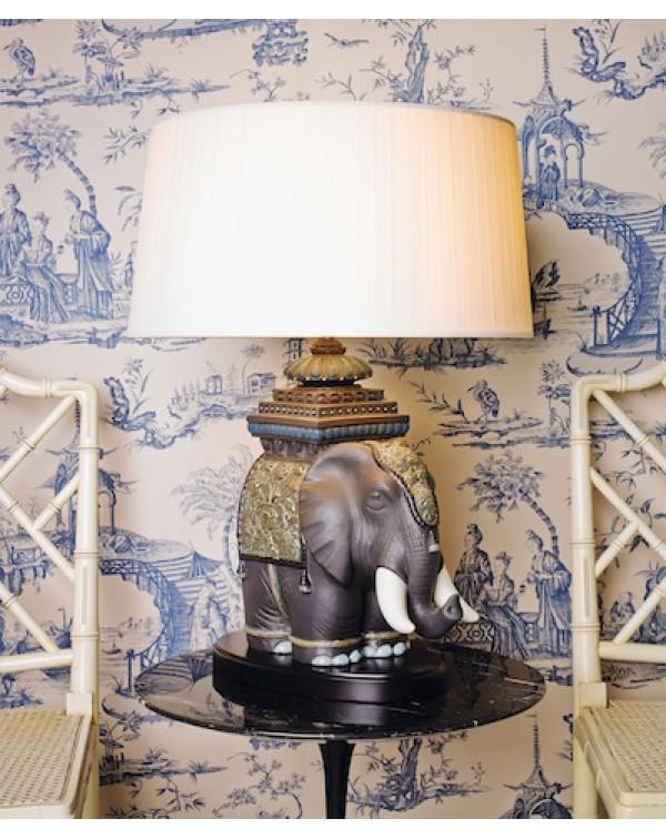 Lladro - Siamese Elephant  Table lamp