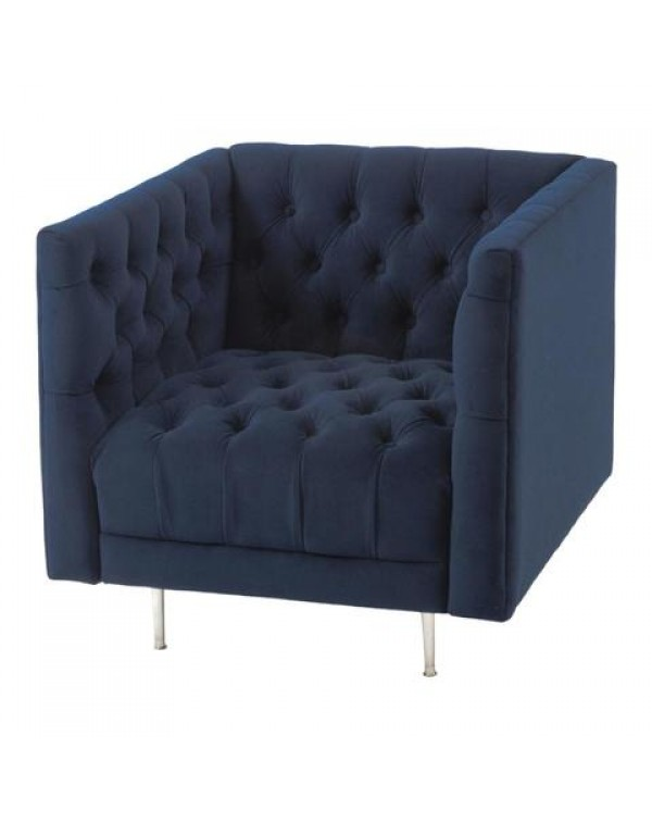 Libra Arya Velvet Button Chair