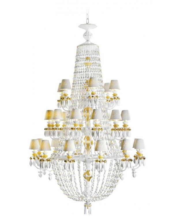 Lladro Winter Palace 30 Lights Chandelier Golden ...