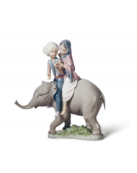 Lladro Hindu Children Figurine
