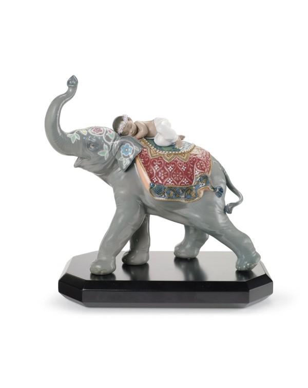Lladro Jaipur Festival Elephant Figurine
