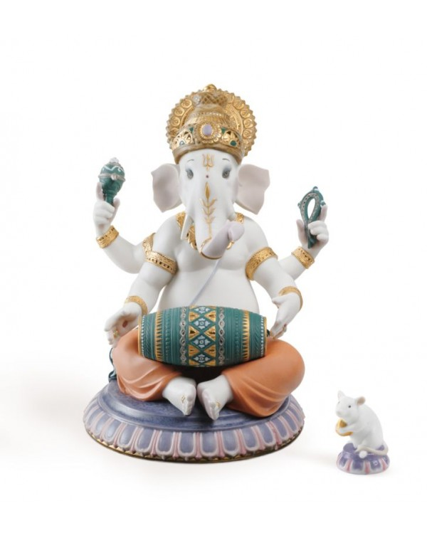 Lladro Mridangam Ganesha Figurine Limited Edition