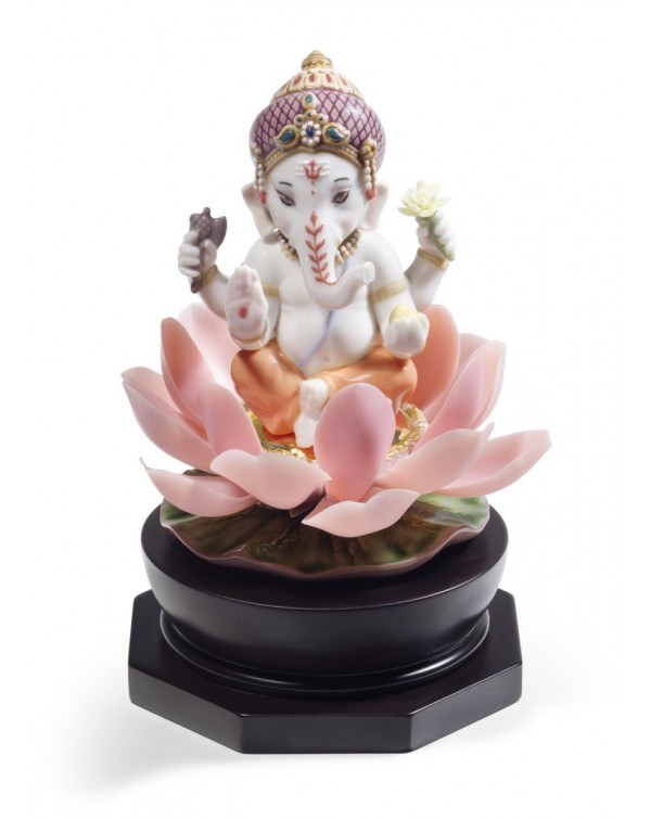 Lladro Padmasana Ganesha Figurine