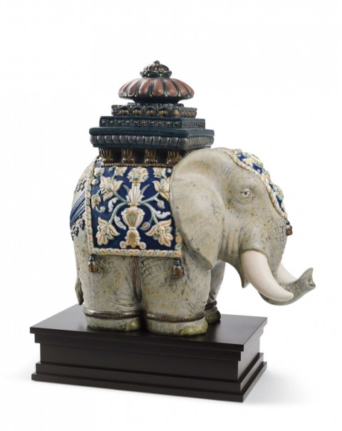 Lladro Siamese Elephant Sculpture Limited Edition