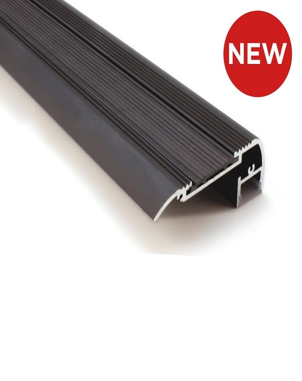 Black Stair Nosing With Rubberised Non Slip Insert