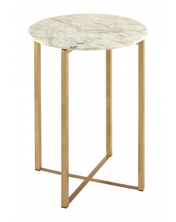 Premier  Housewares Templar White Marble Table