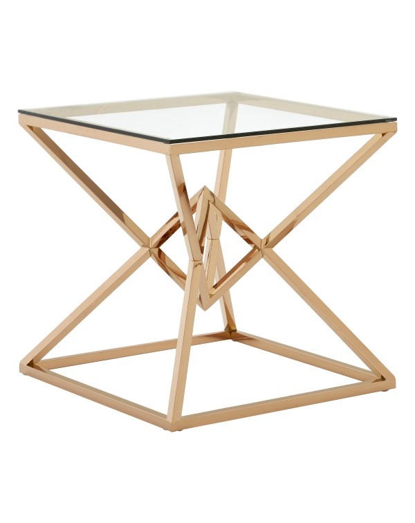 Premier Housewares Allure End Table  Triangles an...