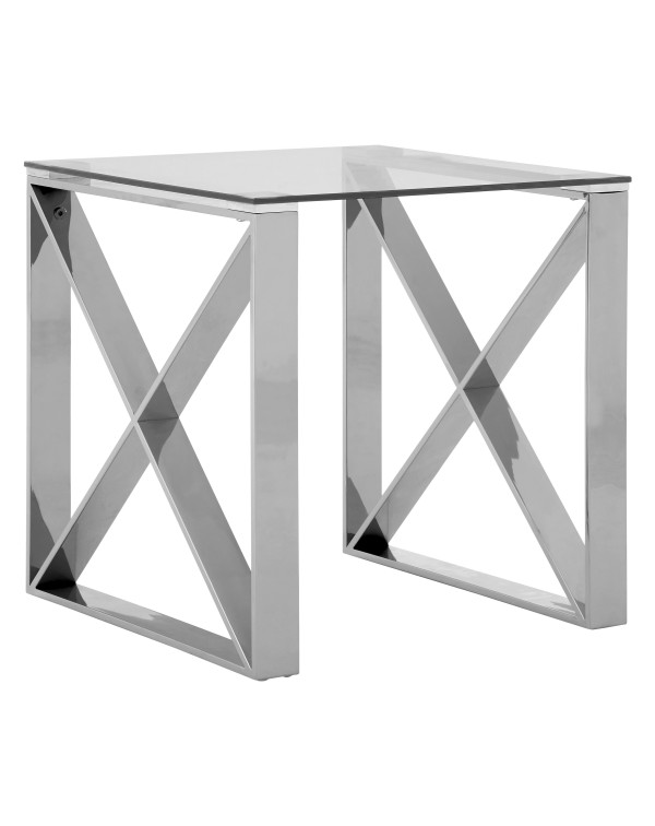 Premier Housewares -Allure End Table Clear Glass ...