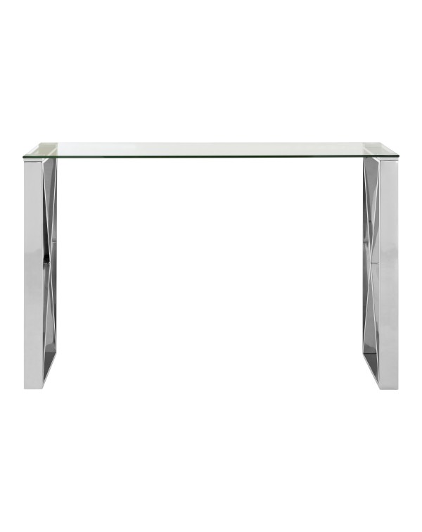 Premier Housewares Allure Console Table Clear Gla...