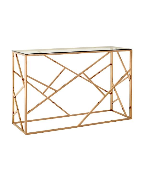 Premier Housewares Allure Console Table Clear Glas...