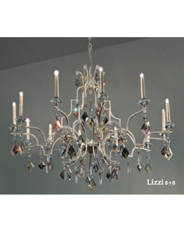 Masiero Lizzi 6+6 Chandelier Light