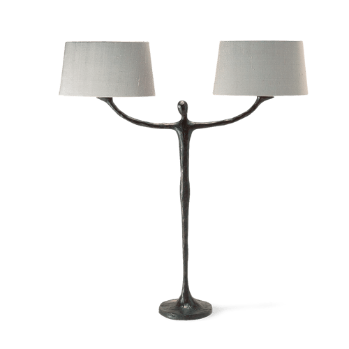 Porta Romana Lighting Table Bronzed Man Lamp Asco Lights