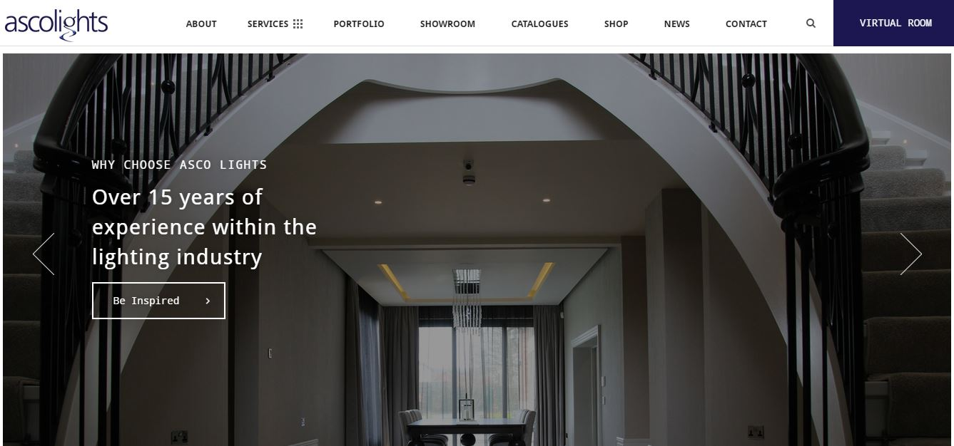 Second Image of New Lighting Design Website