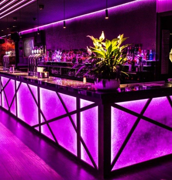 Ascolights design Namaste lounge London restaurant enhance your mood with lighting. Architectural fixtures and fittings, glamorous lighting, relaxed vibe